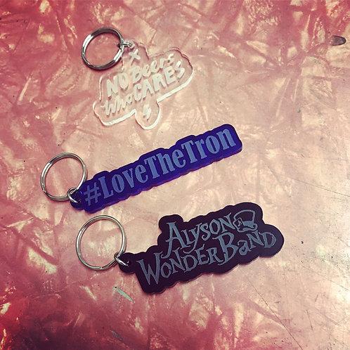 Custom acrylic key tags