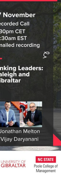 SG Gibraltar & Raleigh Partnership Launch