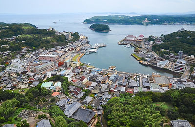A bird's view of Hirado harbour small