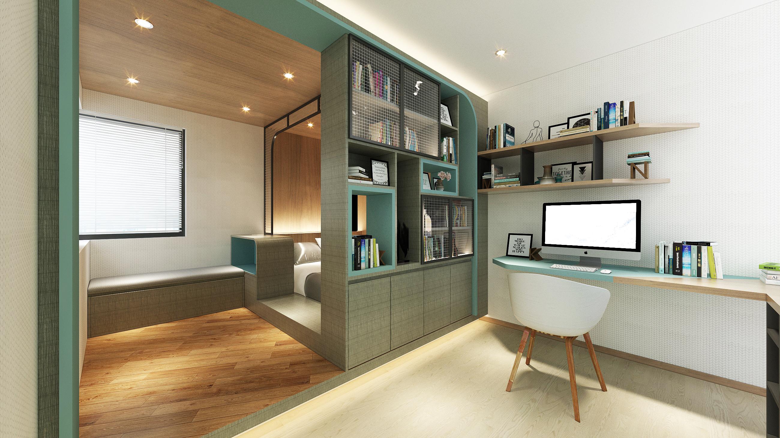 Pinky Century oriental - boy's bedroom1.