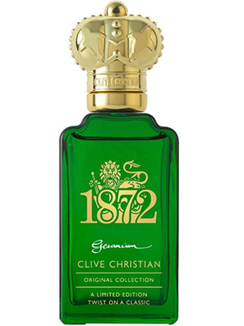 1872 GERANIUM by CLIVE CHRISTIAN 5ml Travel Spray Perfume Cypress Petitgrain