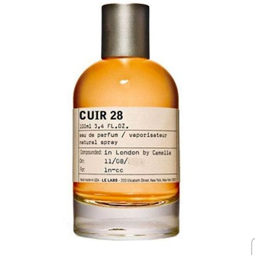 CUIR 28 by LE LABO 5ML Travel Spray Dubai C28 Vanille Elemi Leather
