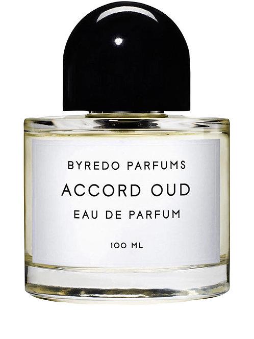 ACCORD OUD by BYREDO 5ml Travel Spray PATCHOULI SAFFRON RUM SAGE Perfume