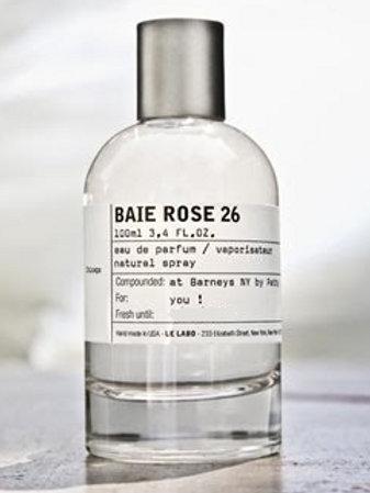 BAIE ROSE 26 by LE LABO 5ml Travel Spray Perfume CEDAR CLOVE MUSK B26 EXCLUSIVE