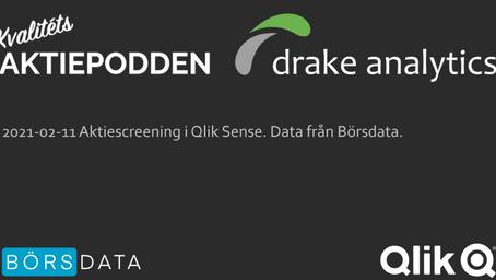 Aktiescreening i Qlik Sense med Ola & Claes från Kvalitetsaktiepodden