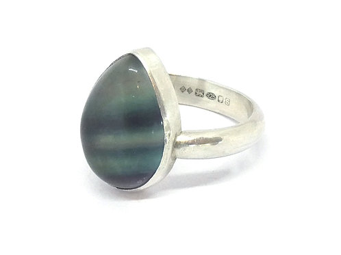 pear shaped flourite ring