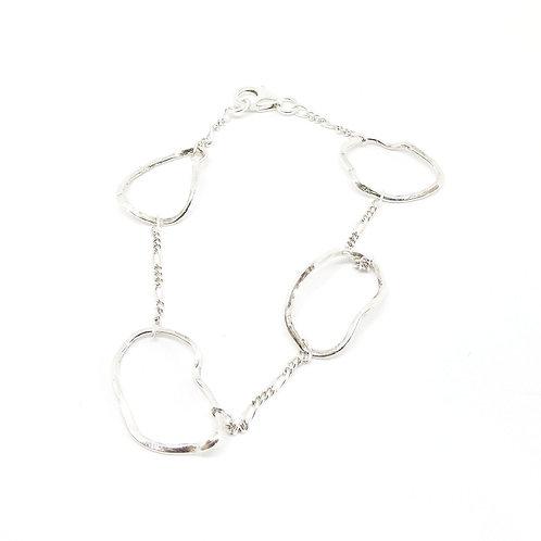 Four link fine wave bracelet