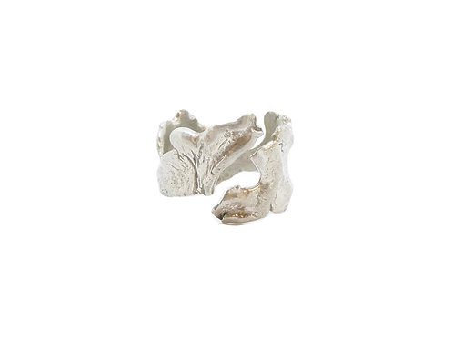 wolf texture ring