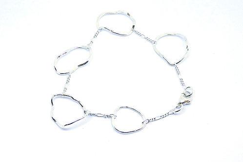 Fine five wave bracelet