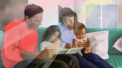 family reading copy