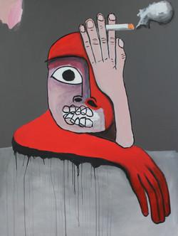 Untitled (Red Smoker) 2015