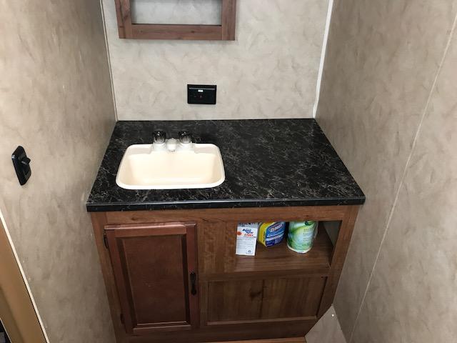 a full size rv rental bathroom