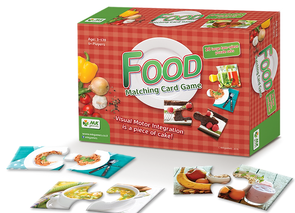 Food, 20 Two-Piece Photo Puzzles