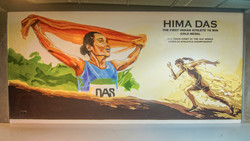 Hima Das wall art