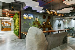 Nature inspired reception area
