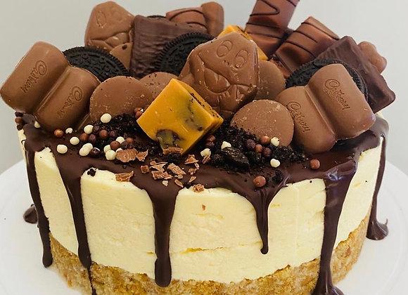 Grazable Classic Vanilla Cheesecake Chocolate Or Fruit Topping