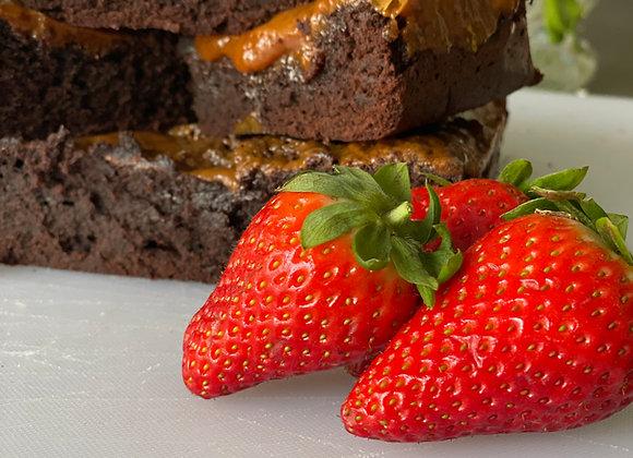 6 Grazable salted caramel brownies