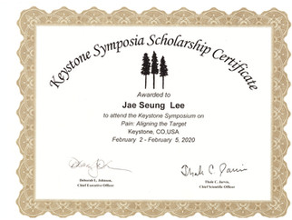 2020년 2월 이재승 박사과정생 Keystone Symposia scholarship에 선정