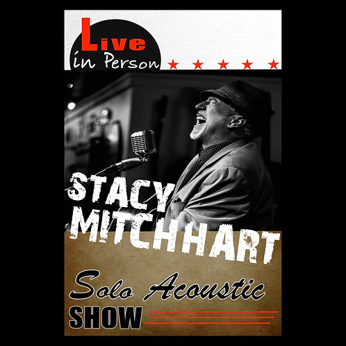 STACY MITCHHART LIVE (ACOUSTIC POSTER) autographed and personalized