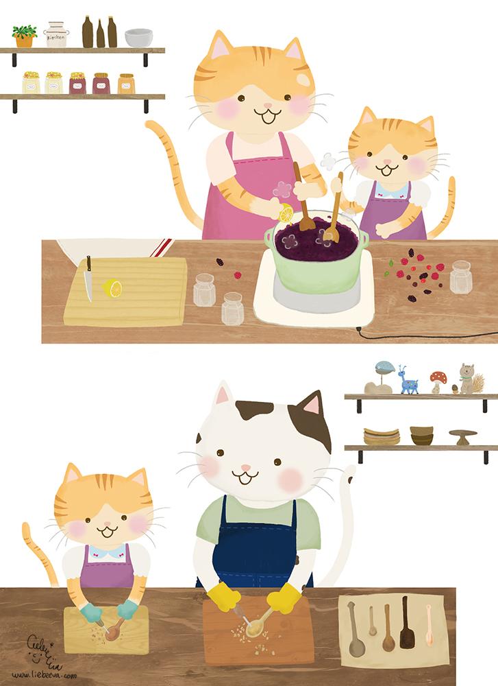 小花貓貓陽光小屋繪本