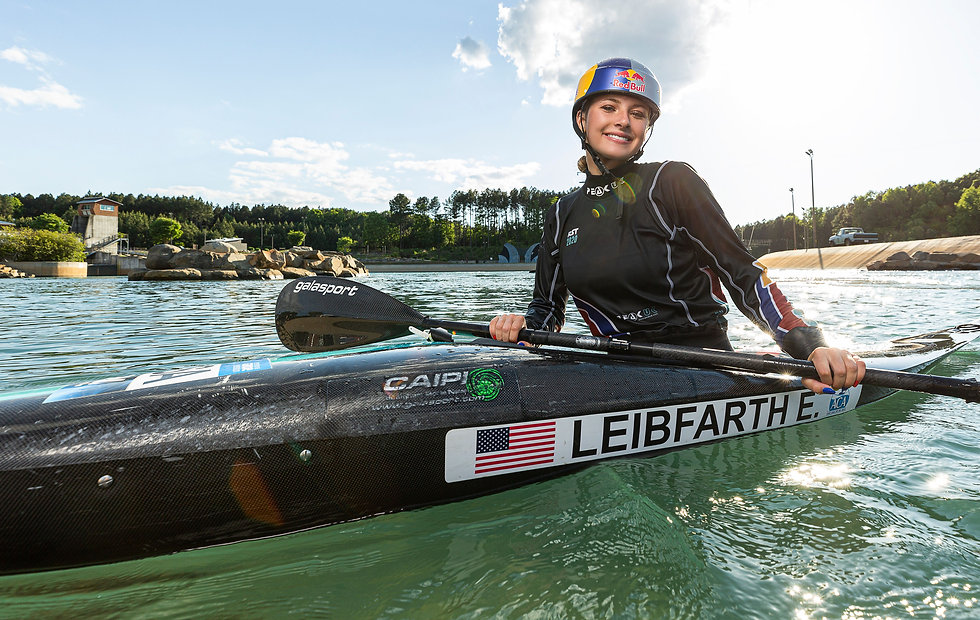 Evy Leibfarth at US National Whitewater Center
