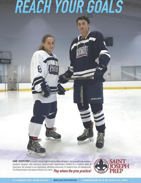 Bruins program back cover ad