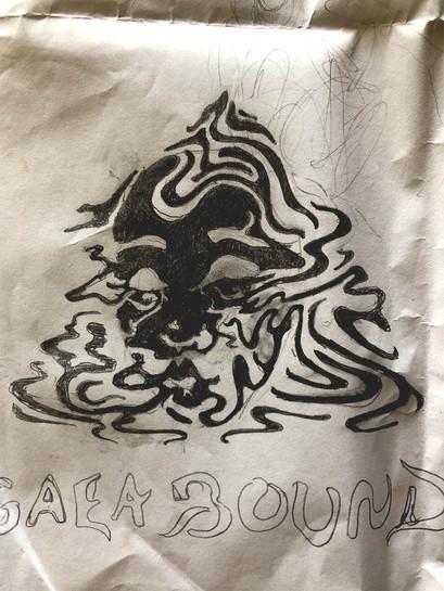 Rough sketch of Gaea Bound's logo