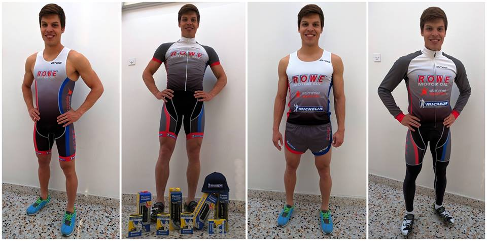 Rowe triathlon team outfit for 2016