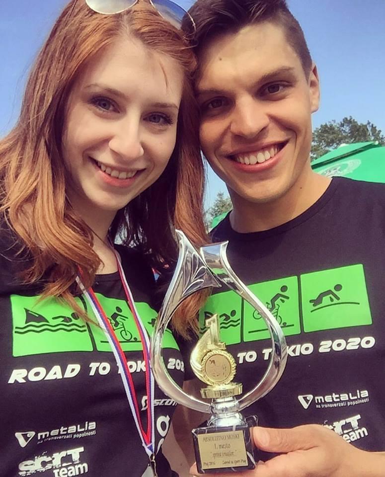 with Eva after winning Ptuj 2016