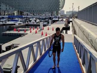 Krst na WTS v Abu Dhabiju končala predrta zračnica