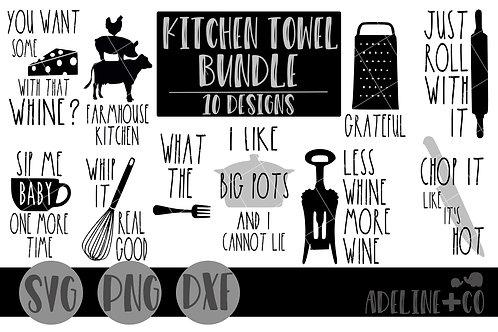Farmhouse kitchen towel bundle