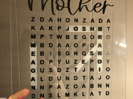 Creating a Word Search Plaque