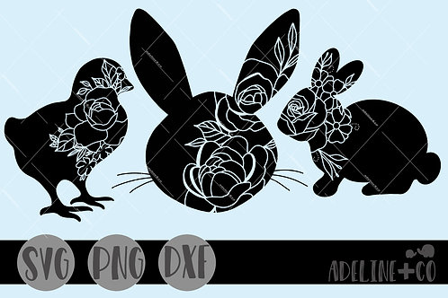 Easter mini bundle, SVG,  silhouettes, Easter