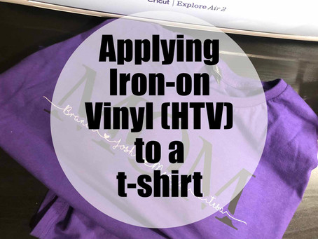 Applying Iron-on Vinyl (HTV)