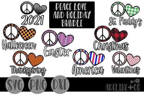 Peace, Love, Holiday bundle