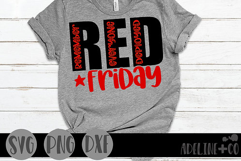 Red Friday SVG,  military