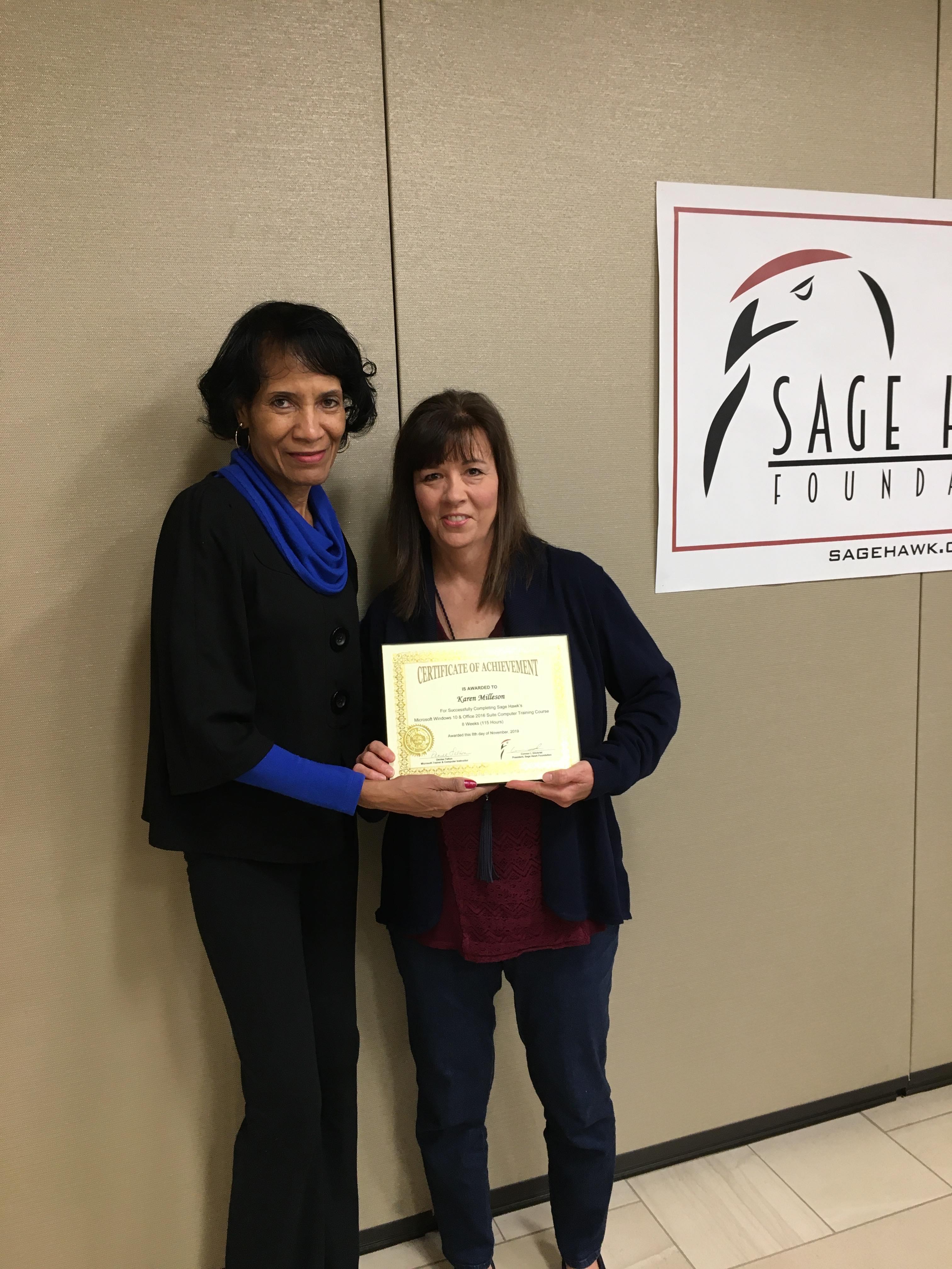 Karen Milleson's Certificate