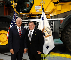 Jim Mills with US VP Mike Pence