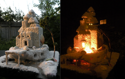 Castle day and night