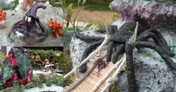 spider guarding a bridge
