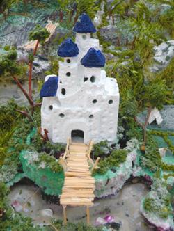 castle made of foam