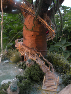 tree with stairs