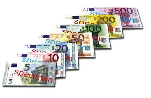 LOT 40 BILLETS EUROS FACTICES pour jeu de société