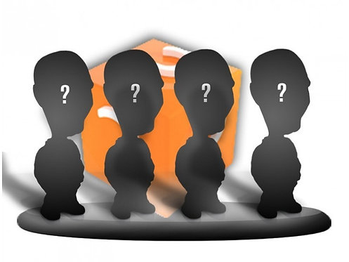 Figurines personnalisées 100% - FAMILLE ou GROUPE 4 PERSONNES sur le même socle