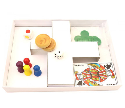 CALE DE RANGEMENT CARTON Pour intérieur boîtes de jeu blanches