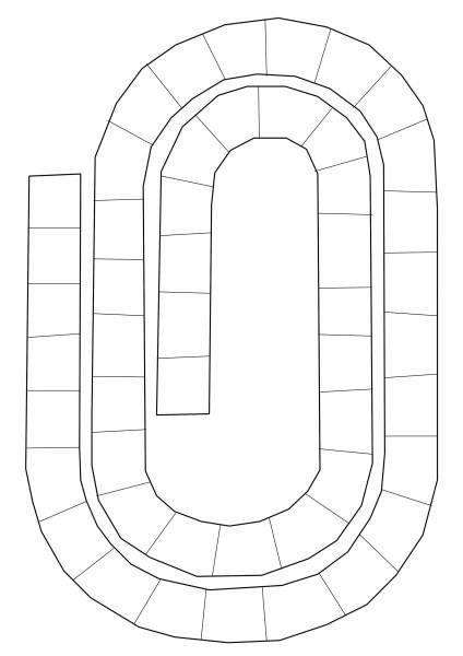 GRATUIT-Modèle plateau jeu circuit 2 à personnaliser