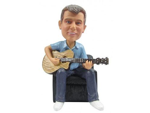 Figurine personnalisée homme GUITARISTE