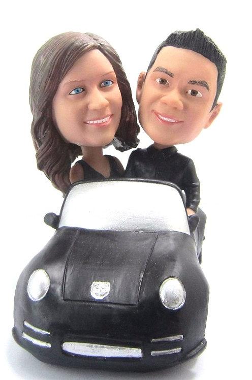 Figurines personnalisées Couple voiture
