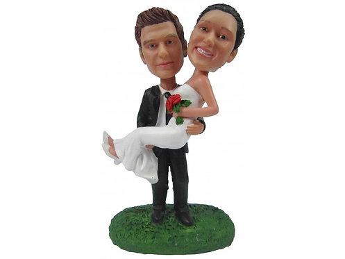 Figurines mariés personnalisées - les mariés DANSENT