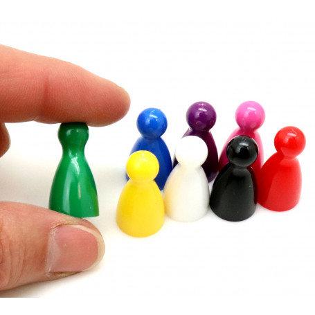 LOT 8 PIONS CONES CLASSIQUES en plastique pour jeux de société